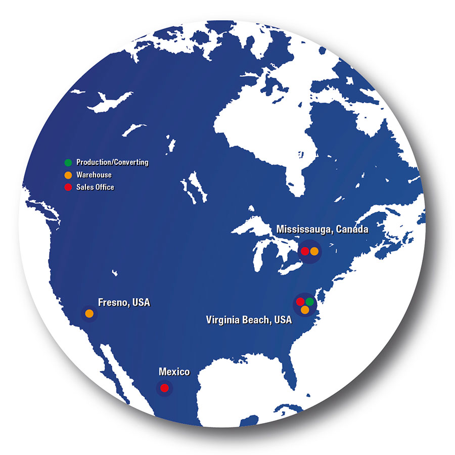 Map Hermes North America